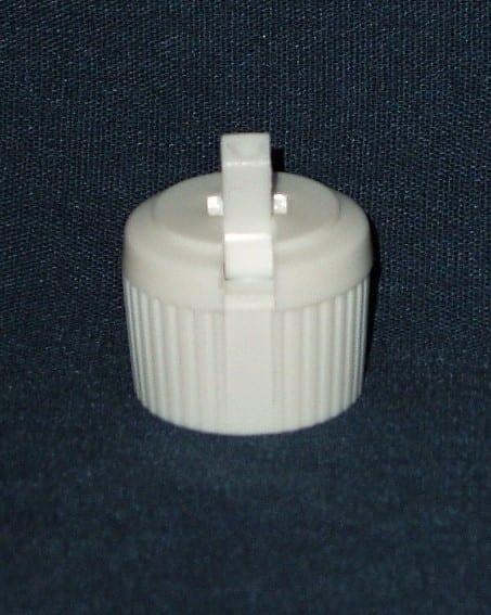 White LDPE Flip Spout Closures with Orifice 20/410